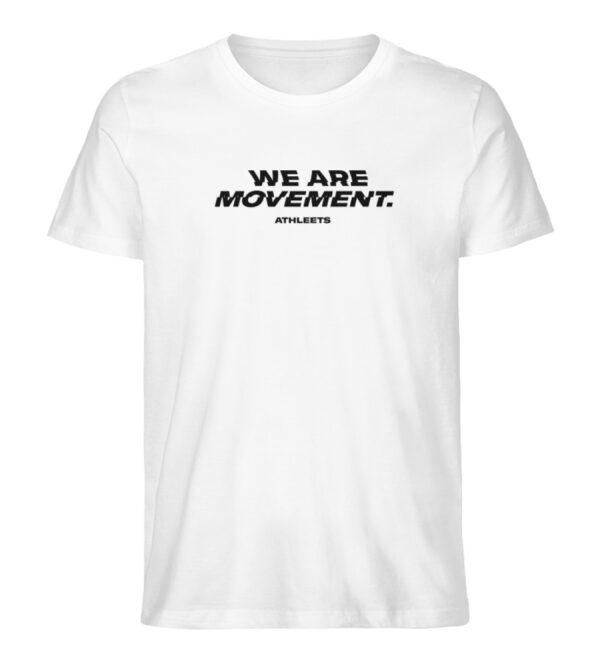 WE ARE MOVEMENT - SHIRT WHITE - Herren Premium Organic Shirt-3