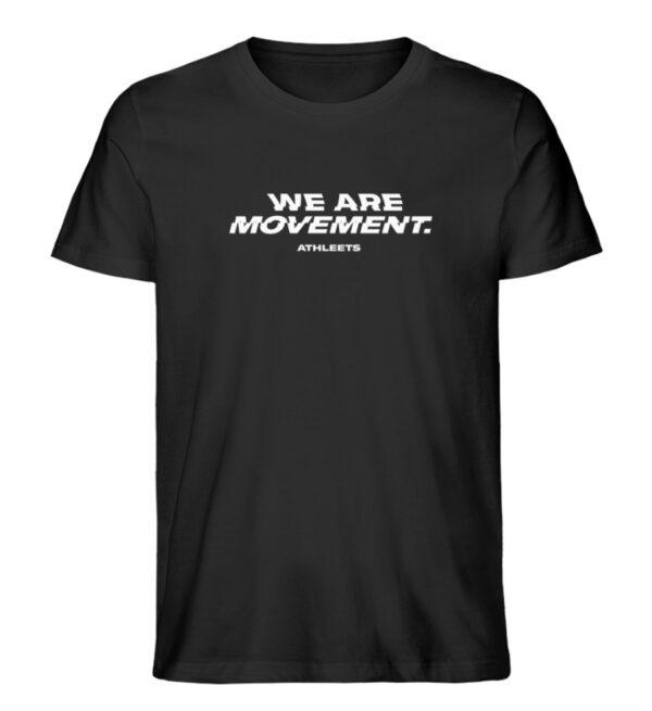 WE ARE MOVEMENT - SHIRT BLACK - Herren Premium Organic Shirt-16